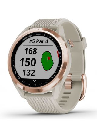 Garmin Approach S42 Rose Gold with Light Sand Band 010-02572-02