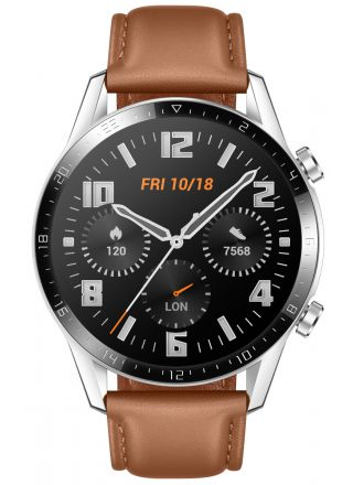 Huawei Watch GT2 (46mm) Brown leather strap älykello 55024470