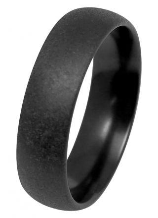 Kohinoor Duetto Black Edition musta kihlasormus matta 006-091