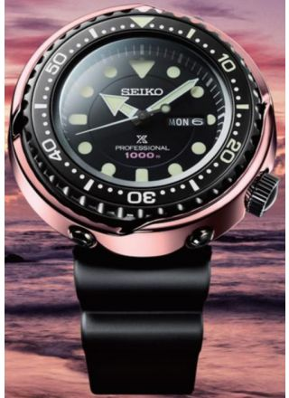 Seiko Tuna S23627J1 1000m Diver Limited Edition Rose Gold