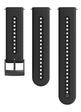 Suunto Athletic 7 Charcoal Black silikoniranneke 24 mm koko S/M SS050687000