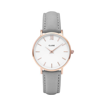 Cluse CL30002 Minuit Rose Gold White/Grey